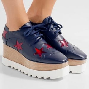 Stella McCartney Elyse Star Platform Oxford Shoes